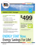 Palm Harbor Homes offers our home buyers the energy saving, money saving option of adding EnergyStar certification on all of the manufactured homes we build. See your closest model center for more information on this green feature!