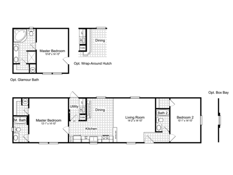 >The Woodland I TLG264K8 Floor Plan - Palm Harbor Homes