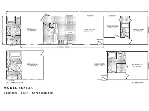 >The Villager 16763A Floor Plan