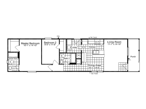 >The Cabana III SM16612C Floor Plan