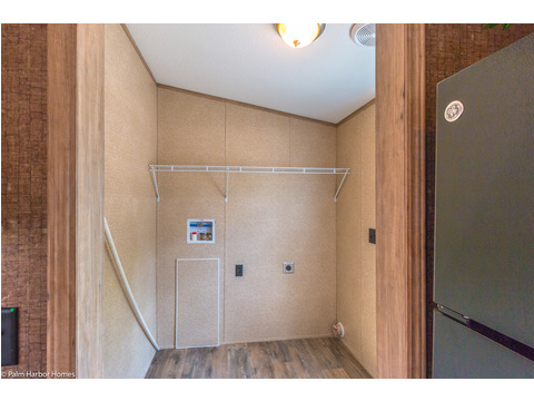 The utility room in the Cabana III is large enough for a washer/dryer combo and additional storage!