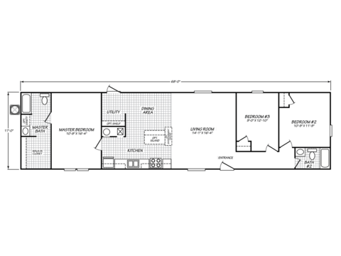 >Model VE18683V Floor Plan