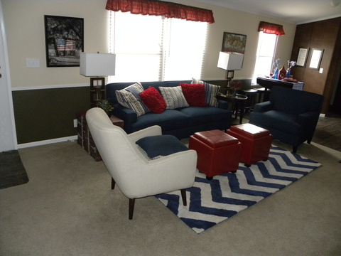 Living room - The Showtime ITF376D2 by Palm Harbor Homes