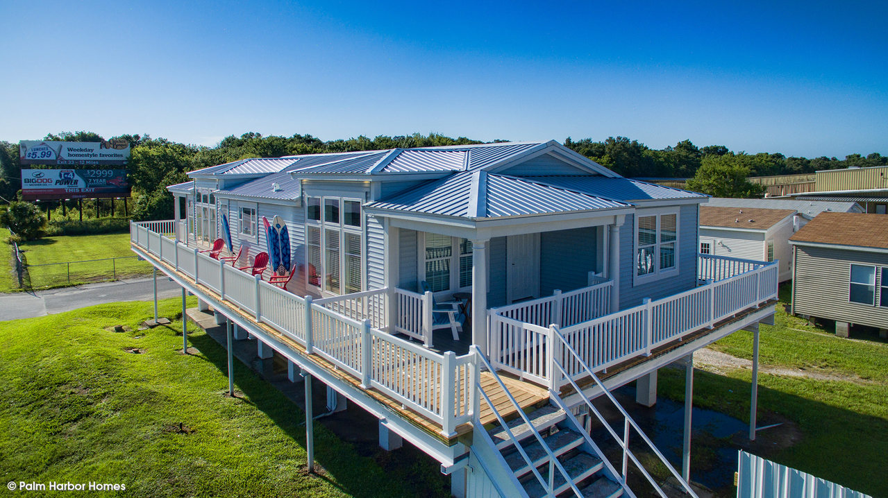 The riviera ii manufactured home or mobile home from palm for Modular stilt homes