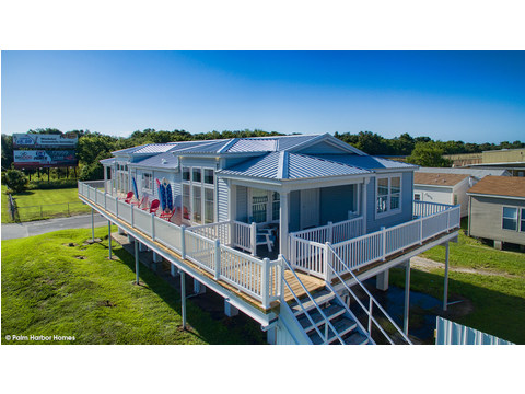 The Riviera II, 3 Bedroom, 2 Bath, 2,040 Sq. Ft. manufactured home by Palm Harbor in Plant City - See model center for pricing on additional cost of home set on stilts.