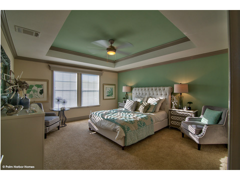 Master bedroom- The Riviera II, 3 Bedroom, 2 Bath, 2,040 Sq. Ft. manufactured home by Palm Harbor in Plant City
