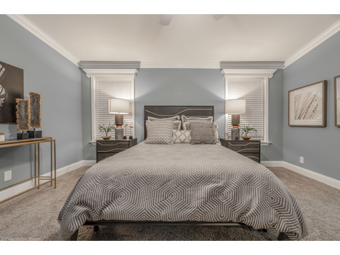 The master bedroom - the La Belle IV X4769H in Florida - 4 Bedrooms, 3 Baths, 2,847 Sq. Ft. triple wide manufactured home or modular home by Palm Harbor Homes