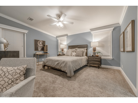 Looking back into the master bedroom from the sitting area - the La Belle IV X4769H in Florida - 4 Bedrooms, 3 Baths, 2,847 Sq. Ft. triple wide manufactured home or modular home by Palm Harbor Homes