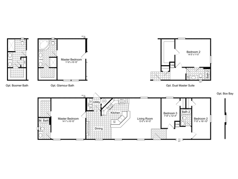 >The Grand Cypress II FF18723D Floor Plan by Palm Harbor Homes