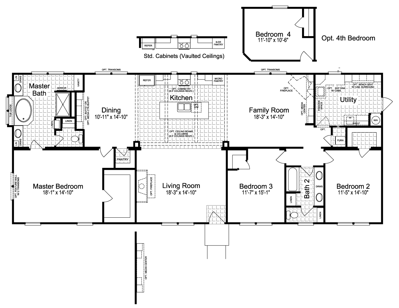 The Sonora II FT32763B manufactured home floor plan or modular floor ...