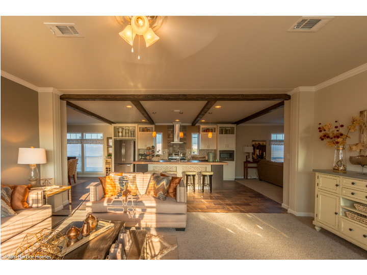 The Living Room Thru To The Open Kitchen In The Sonora II FT32763B, A 3