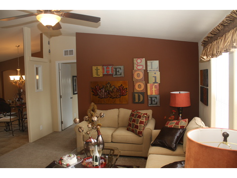 Living Room - The Bay View II 48S09, Palm Harbor Homes