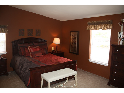 Master Bedroom - The Bay View II 48S09, Palm Harbor Homes