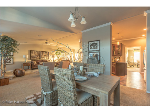 This diningroom is close enough to all the action to allow for great family times - Hacienda II by Palm Harbor Homes