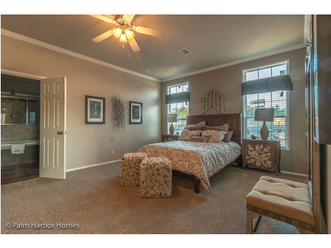 Master bedroom - The Hacienda II by Palm Harbor Homes