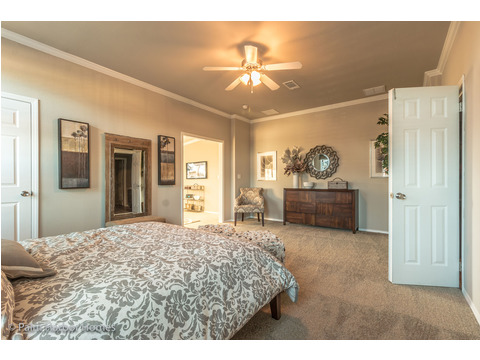 The master bedroom itself is over 20 feet long - Hacienda II by Palm Harbor Homes