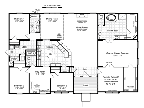Triple Wide Floor Plans Gurus Floor