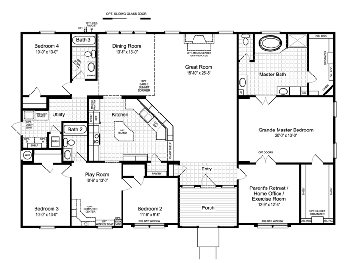 View The Hacienda II Floor Plan For A Sq Ft Palm Harbor - Floor plans for homes in texas 2