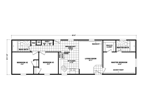 >The PHS 5616A Floor Plan