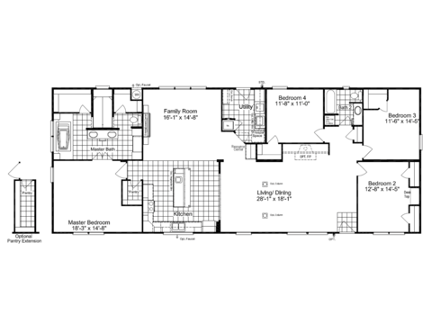 Optional floor plan with gorgeous spa bath in master - The Builtmore Spa ML30764Z