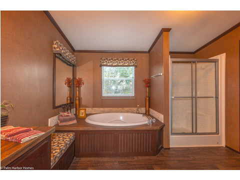 Master bath - The Builtmore HPT476X5 by Palm Harbor Homes