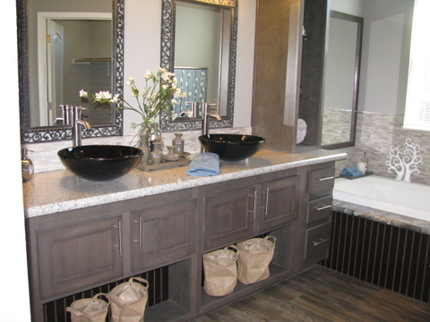 Master bath with vessel sinks - The Casa Grande AD28764A by Palm Harbor Homes