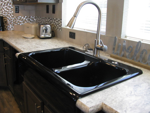 Double Deep Farm Sink - The Casa Grande AD28764A by Palm Harbor Homes