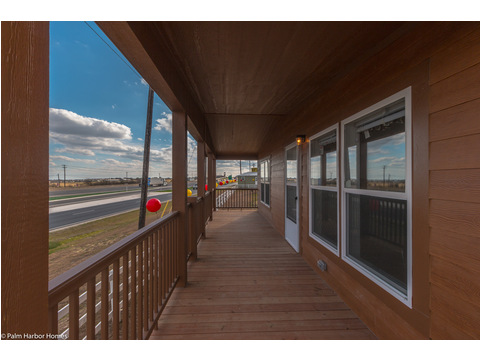 Plenty of windows line the front of this Manufactured Home for extreme visibility and a panoramic view!