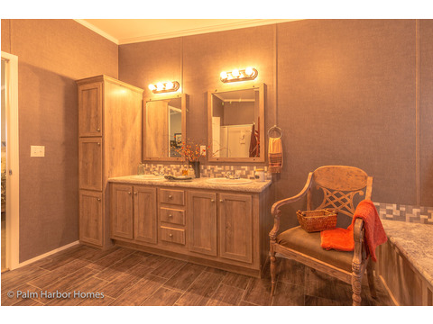 Master bath built-ins - The Super Saver Carrington 4 SA30764C by Palm Harbor Homes