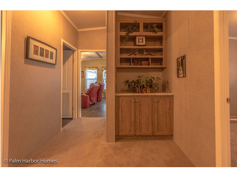 Built-in desk and storage in hallway - The Super Saver Carrington 4 SA30764C by Palm Harbor Homes