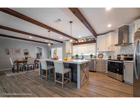 The kitchen of the Magnum home - a manufactured home by Palm Harbor Homes - with 4 Bedrooms, 2 Baths - www.palmharbor.com