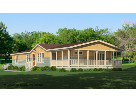 The La Sierra II VRT476E1 artist's rendering - lap siding with board & batt with dormer