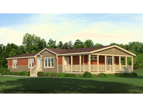 The La Sierra II VRT476E1 artist's rendering - Sun Ranch exterior with dormer