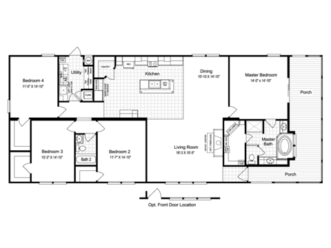 >The La Sierra II VRT476E1 Floor Plan