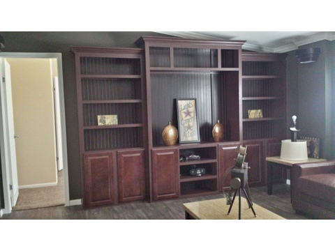 Family Room with Built-in Entertainment Center - The Picasso GLT476X2 by Palm Harbor Homes