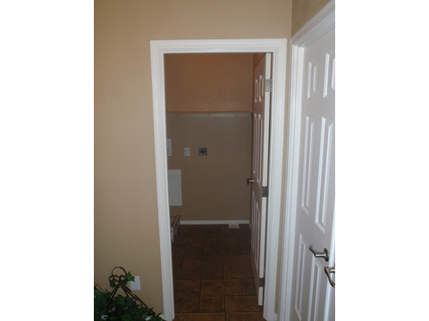 HUGE walk-in washroom with a door to close it off... - The Prescott HI3268C, Palm Harbor Homes