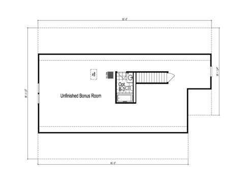 The Lacrosse - UNFINISHED Second Level Floor Plan - Square footage not included
