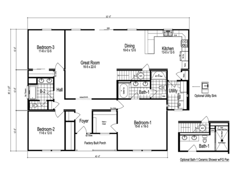 >The Lacrosse - First Level Floor Plan