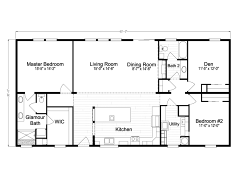 >The Malibu TL30603B Floor Plan