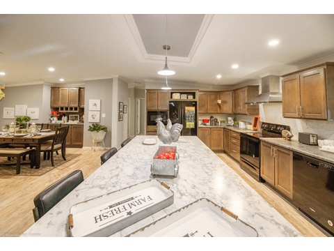 Huge Kitchen Island - Malibu by Palm Harbor Homes, 3 Bedrooms, 2 Baths, 1,800 Sq. Ft.