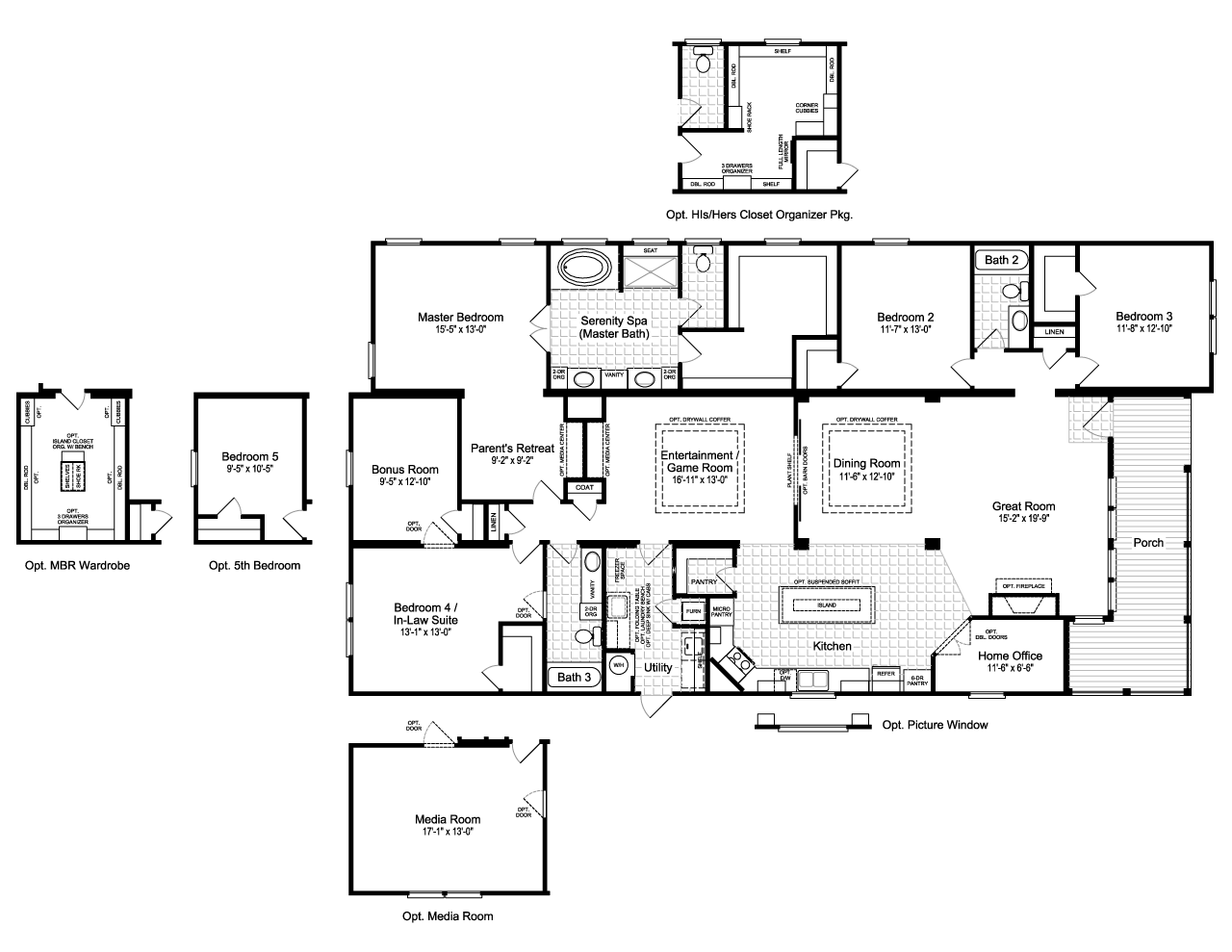The la belle vr41764d manufactured home floor plan or for Floor plans