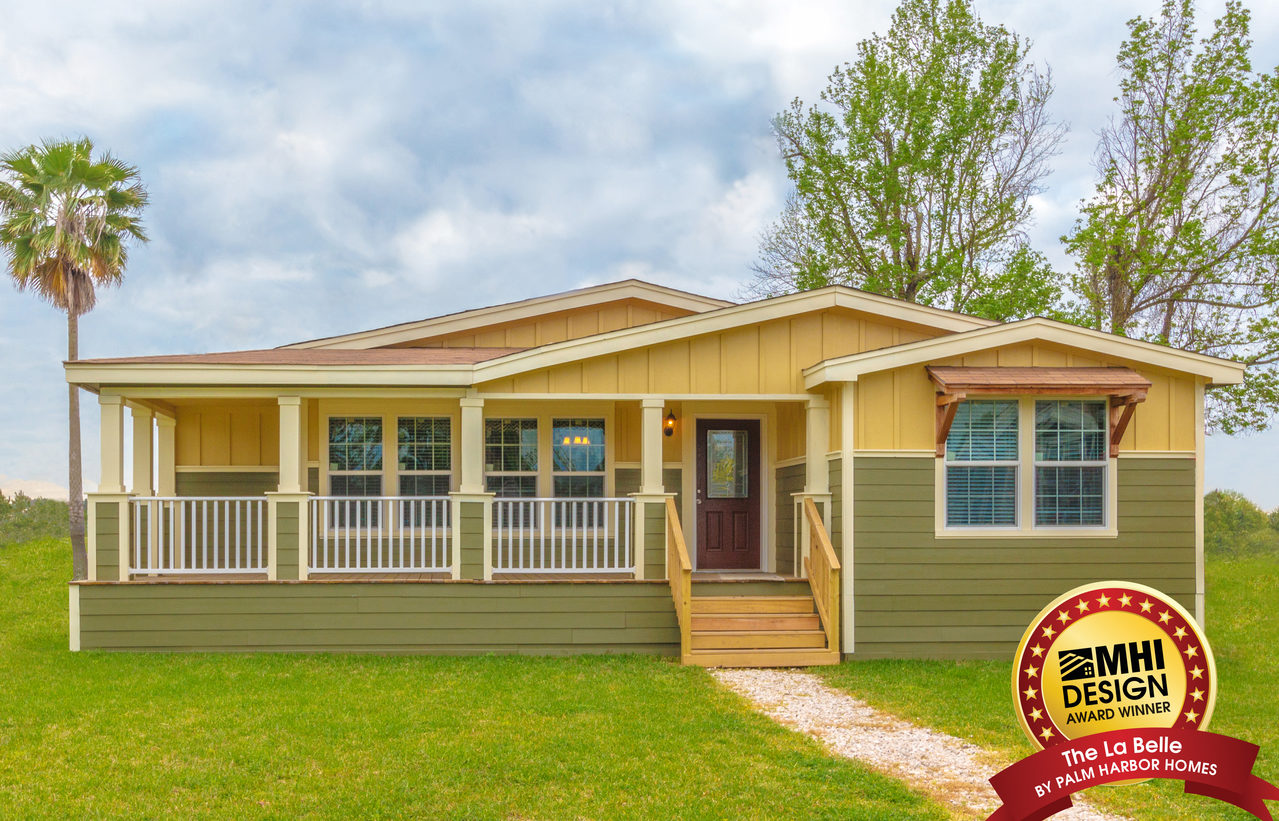 The la belle vr41764d manufactured home floor plan or for Modular home with wrap around porch