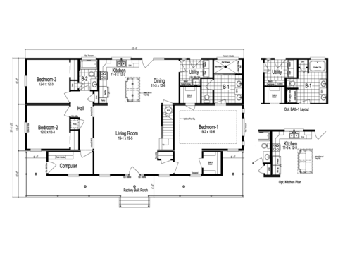 >The Greenbrier I - First Level Floor Plan