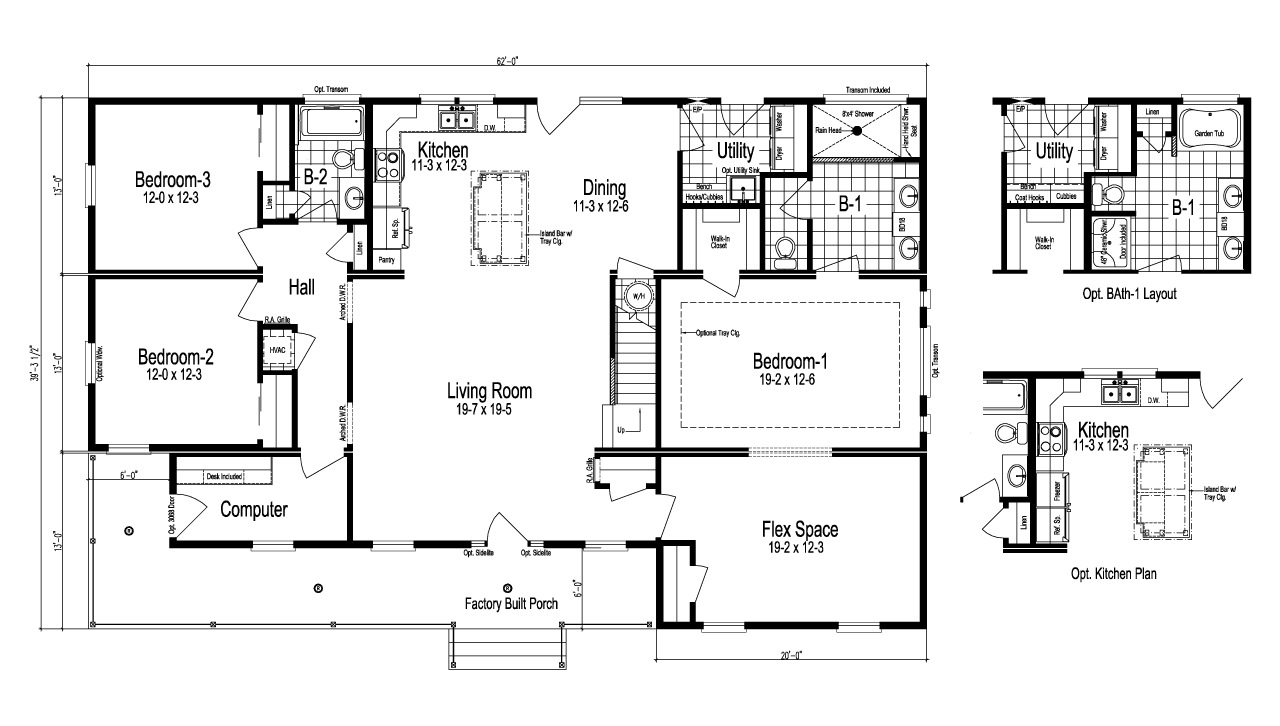 The Greenbrier Ii Manufactured Home Floor Plan Or Modular