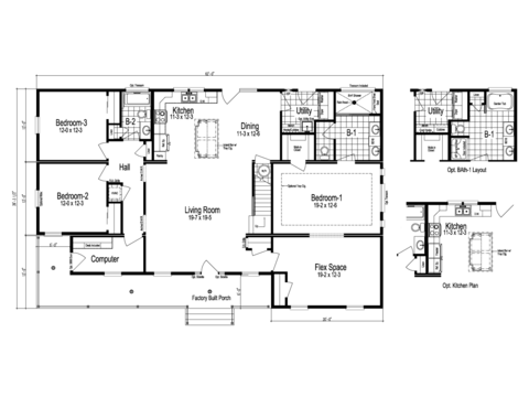 >The Greenbrier II - First Level Floor Plan