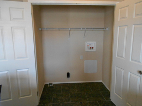Private washer and dryer area with a doors to close off. Have mounds of laundry you don't want anyone to see...close the doors. Worried about the noise of the washer and dryer...close the doors. Call 1-888-466-3718 to find a model center near you.