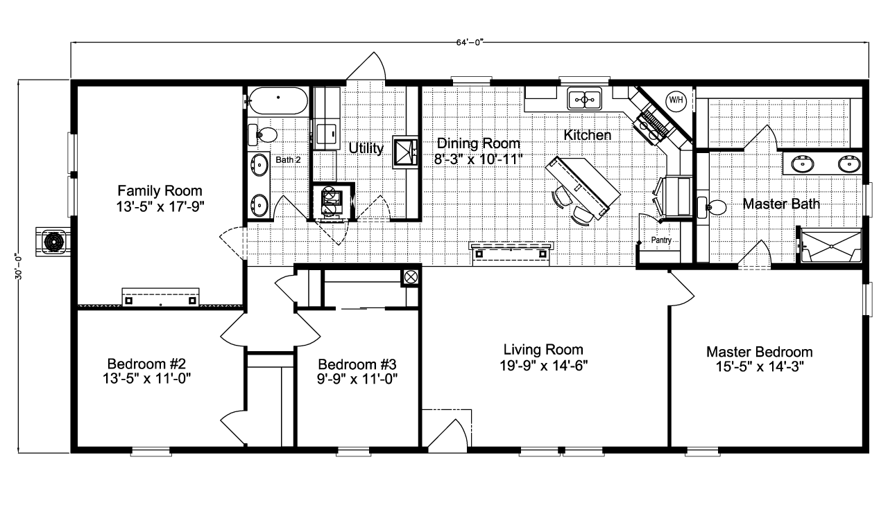 Barbados LS30643A Manufactured Home Floor Plan Or Modular