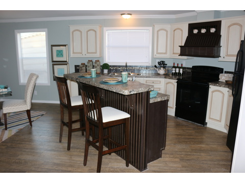 Kitchen with serving bar - Barbados T3646T by Palm Harbor Homes