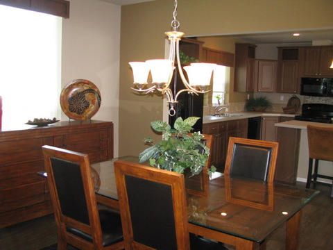 Dining area with plenty of space for whatever size table you may need.