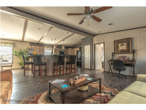 Living room and kitchen - The Super Saver Benbrook SA28644B by Palm Harbor Homes